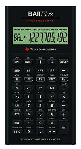 Texas Instruments BA II Plus Professional  Calculatrice