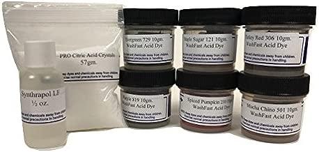 WashFast Autumn Acid Dye Sampler