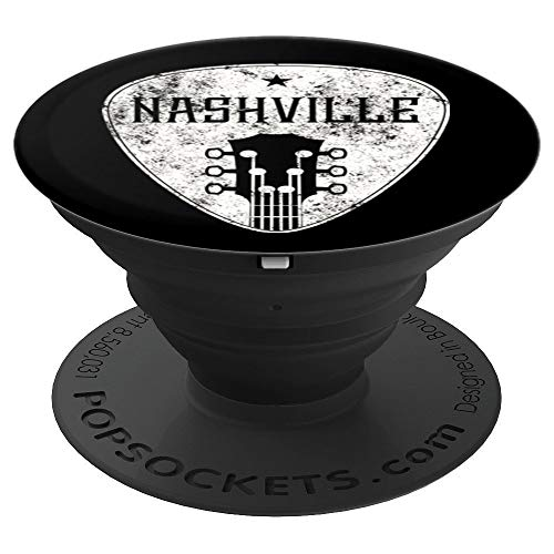 Nashville Guitar Pick Retro Distressed Country Music PopSockets Grip and Stand for Phones and Tablets