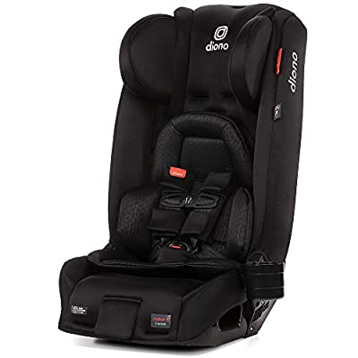 Diono Radian 3RXT, 4-in-1 Convertible Extended Rear and Forward Facing Convertible Car Seat, Steel Core, 10 Years 1 Car Seat, Ultimate Safety and Protection, Slim Design - Fits 3 Across, Jet Black by Diono