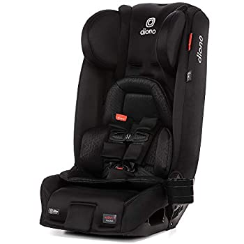 Diono Radian 3RXT 4-in-1 Convertible Extended Rear and Forward Facing Convertible Car Seat Steel Core 10 Years 1 Car Seat Ultimate Safety and Protection Slim Design - Fits 3 Across Jet Black