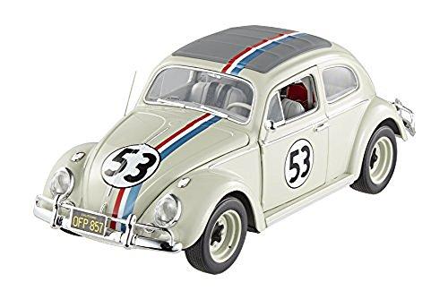 Hot wheels BCJ94 1963 Volkswagen Beetle The Love Bug Herbie #53 Elite Edition 1/18 Diecast Car Model by Hotwheels