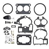 Carbman Carburetor Rebuild Kit with Float Compatible with Mercury Marine 3.0L 4.3L 5.0L 5.7L Mercarb 2 BBL Carburetor 3302-804844002 1389-9562A1 1389-9563A1 1389-9564A1 1389-9670A2 1389-806077A2