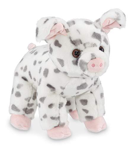Bearington Hamilton Plush Spotted Pig Stuffed Animal, 10 Inches