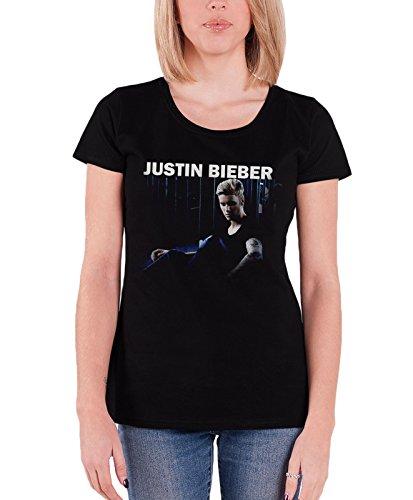 Justin Bieber T Shirt Damen Purpose Mirror Sorry Nue offiziell Schwarz Skinny