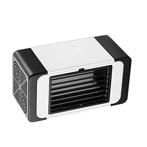 BOLUOBAO Climatiseur Portable Maison Petit Usb Cool Air Climatiseur Mobile Silencieux Sans Evacuation Glace Leger (18.5x10x8.8cm, Blanc)