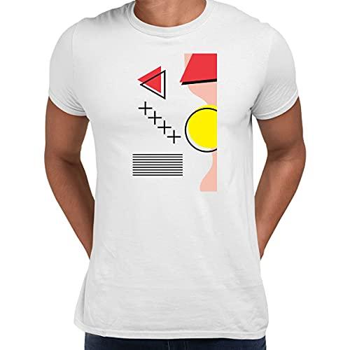 Shapes Retro Nostalgia Tee Colorido Arte Impresión Camiseta 90 Diseño Corto Divertido Hombres Unisex Camiseta