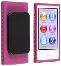 Generic Pink Belt Clip TPU Rubber Skin Case Cover for Apple iPod Nano 7th Generation 7G 7