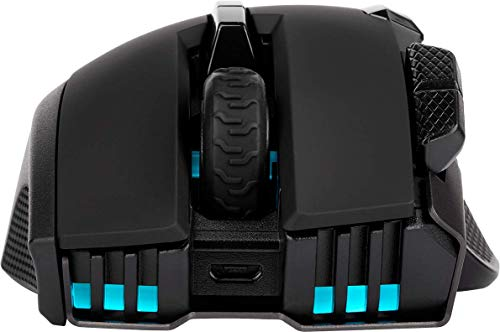 Corsair Elgato Ironclaw Wireless RGB, rechargeable optical gaming mouse with slipstream technology (18,000 DPI optical sensor, RGB LED backlight) black