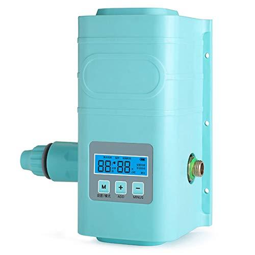 RUIXFAP Sensible Temporizador de Agua de Manguera Temporizadores para mangueras Controlador del Sistema de riego de Jardines Computadora de riego Impermeable Inteligente, Blue