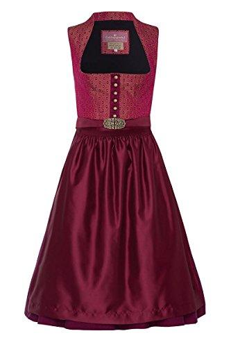 Lieblingsgwand Midi 003671 - Vestido Tradicional tirolés para Mujer, diseño de arándanos, Color Berenjena