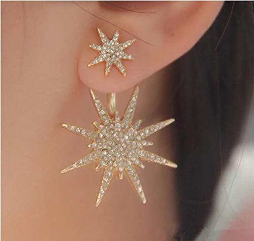NOBRAND Pendientes Colgantes para Mujer Cristal Color Plateado Color Dorado Pendientes llamativos Pendientes de joyería de Oreja
