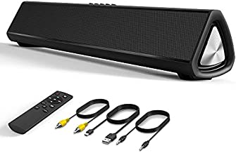 VersionTECH. Bluetooth Sound Bar Computer Speaker Wired Wireless Soundbar Home Theater for Desktop/Laptop PC/Projectors/Smartphone/TV, 20W, Remote Control