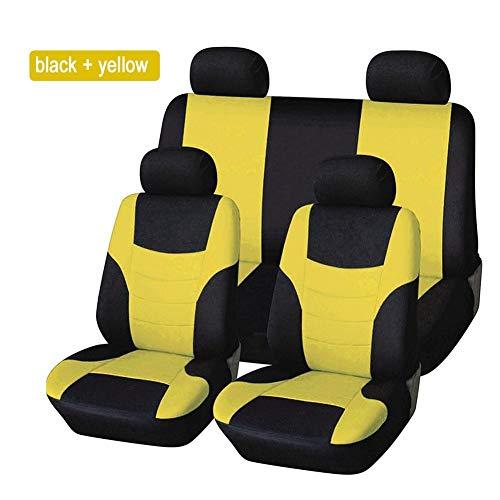 8PCS Auto sitzbezüge universal schwarz Set, Autositzbezug Schonbezug Sitzbezug Für Das Auto Sitzbezüge Autositz, Schwarz - Quiet,T