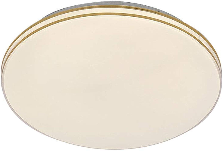 CHENSQ LED 36W Deckenleuchte Unendlich polarisiertes Acryl Wohnzimmer Korridor Balkon Schlafzimmer Licht (Gold)