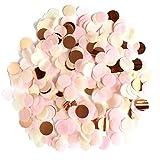 XCOZU 1500 Stück Konfetti Rosa, 1cm Rosegold Konfetti Papier für Hochzeit Valentinstag Tischdeko Geburtstag Party, Rund Seidenpapier Tisch Konfetti für Ballons 30g