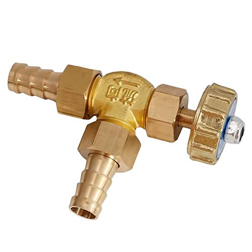 YIJIAN-UMBRELLA Oro Gas Válvulas de 8 mm / 10 mm ID Hose Barb Brass ángulo Recto de la Aguja de la válvula for el Gas Presión máxima de 1 Mpa (Specification : 10mm)