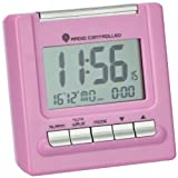 Wetterladen 98.1087.12 Funkwecker Bergamo mit Tepmeratur, rosa
