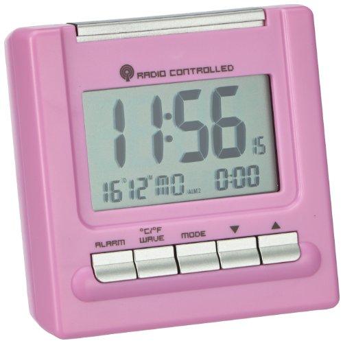 TFA 98.1087.12 - Radiosveglia 'Bergamo', con indicazione di temperatura, Rosa