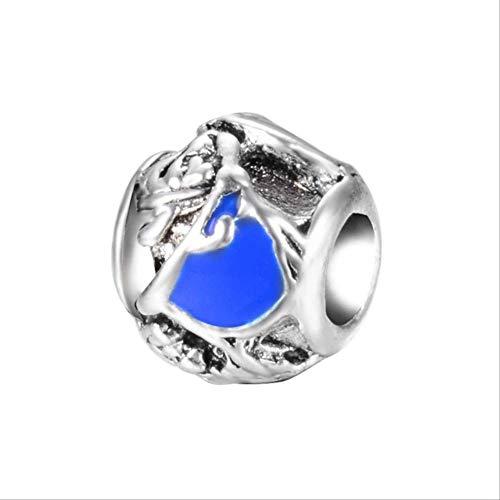 HUASE Accesorios Aleación Bead Tetera Tiger Rabbit Mouse Charm Fit Pandora Pulsera Collar DIYA759