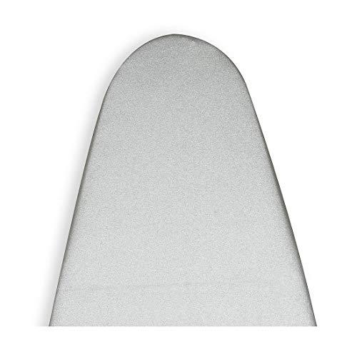 Encasa Homes Cubierta De La Tabla De Planchar Metalizada De Silver Super Luxury Con Espuma + Fieltro Pad (Se Ajusta A Las Tablas De Medio 112 X 33 Cm) Reflectante Al Calor, 3 Sujetadores