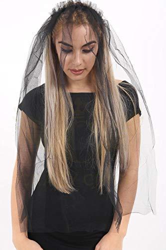 Damenschleier für Hochzeiten, Junggesellinnen-Abschiedspartys und Kostümfeste Gr. One size, schwarz