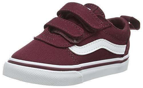 Vans Ward V-Velcro, Sneaker Bambini, Canvas Port/White, 21 EU