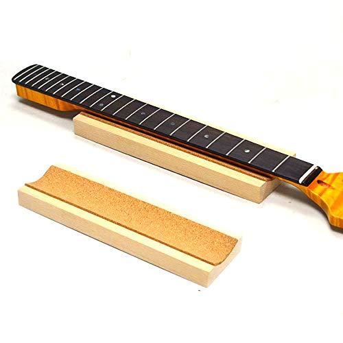 2 PCS Guitar Neck Rest, Cube String Instrument Neck Neck Support - Hecho de madera de pino en bruto, Soporte de pantalla almohada para el cuello del instrumento cuerda, - para guitarra Luthier Tool