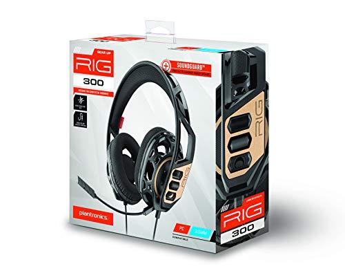 Plantronics RIG 300 Casque Audio Binaural Bandeau Noir - Casques Audio (Console de Jeu/PC/Jeux,...