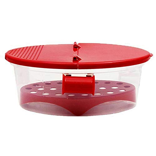 Microwave Pasta Boat,Microwave Pasta Cooker with Strainer,Rapid Pasta Cooker Not Sticking or Waiting for Boil