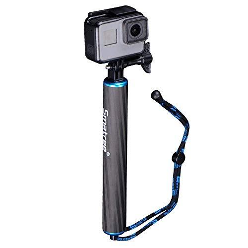 Smatree Wasserdicht Schwimmend Kohlefaser Handgriff für DJI OSMO Action/GoPro Hero8/Hero2018/Hero7/6/5/4/3+/3 (blau)