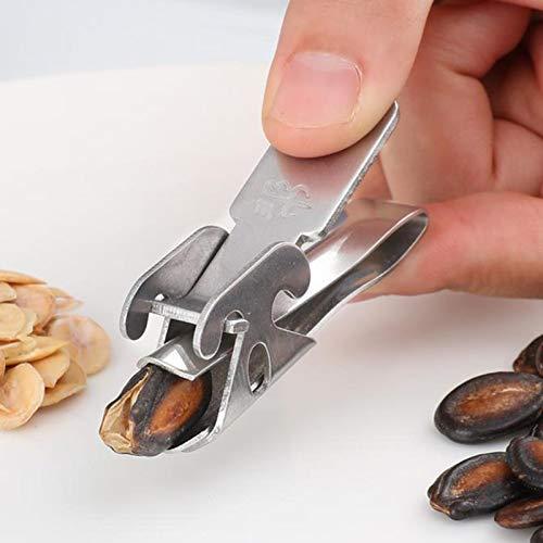 Stainless Steel Nut Cracker,Seed Peeler/Peanut Sheller, Sunflower Seed Peeler Walnut Clamp
