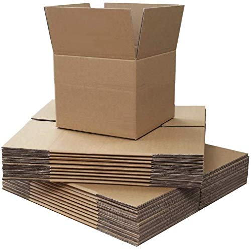Small Single Wall Shipping Mailing Postal Gift Cuboid Cardboard Cartons Boxes Royal Mail Small Parcel Fit8x8x8' (203x203x203mm) (500 Boxes)