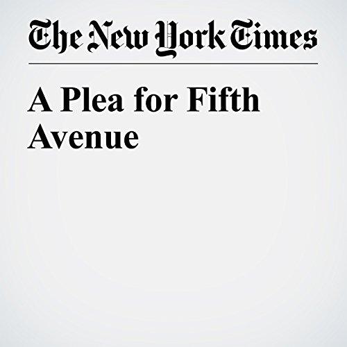 A Plea for Fifth Avenue copertina