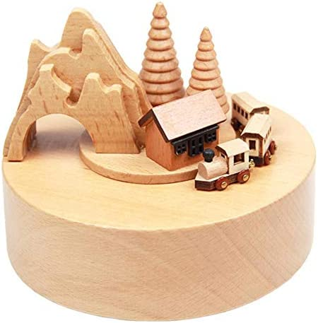 Smart Castle Toy Decoration Wooden Little Music Quality inspection Box Train New sales