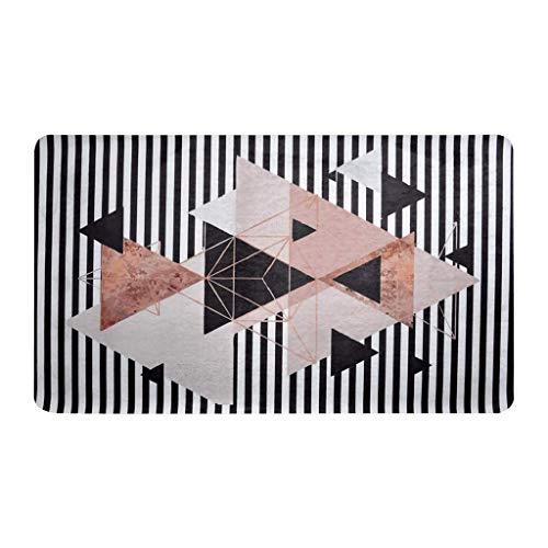 Tapetto casa Moderni Soggiorno Tappeto Rettangolare Grigio Poliestere Motivo Geometrico Senza Lanugine, Senza Dissolvenza Soggiorno Tavolino Coperta Semplice Coperta Moderno Divano Letto Coperta Tappe