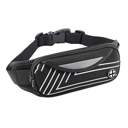 BesPORTBLE, 1 pochete impermeável multifuncional para esportes na cintura, fitness, casual, treino, cintura, pochete para corrida, acampamento, caminhada, escalada, prata