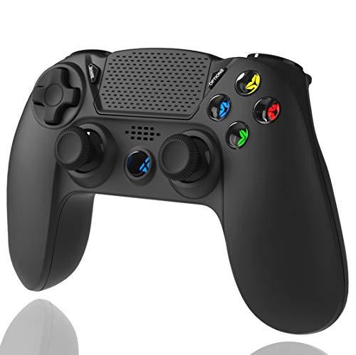 TUTUO Wireless Controller per PS4, Bluetooth Joystick Controller Gamepad di Gioco Doppio Shock a Sei-Assi Joystick con TouchPad e Jack Audio Compatibile con PS4/PRO/Slim