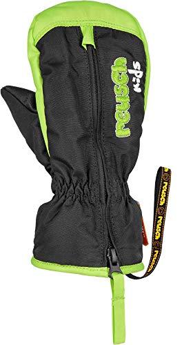 Reusch Baby Ben Mitten Handschuhe, Black/Neon Green, II
