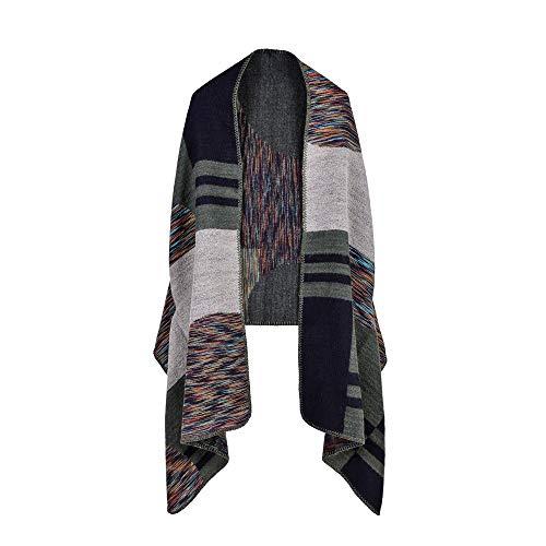 LUOLYLYM Primavera, Otoño E Invierno Variedad Multiuso Cachemira Moda Color Strip Europa Y América Pop Shawl Scarf Cloak Xb-4 65 * 190Cm