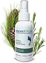 Natural Foot & Shoe Deodorizer Spray - for Feet, Shoes & Gym Gear | Odor Eliminator & Strong Smell Remover for Any Boot or Sneaker - Made with Powerful Essential Oils - Cedar
