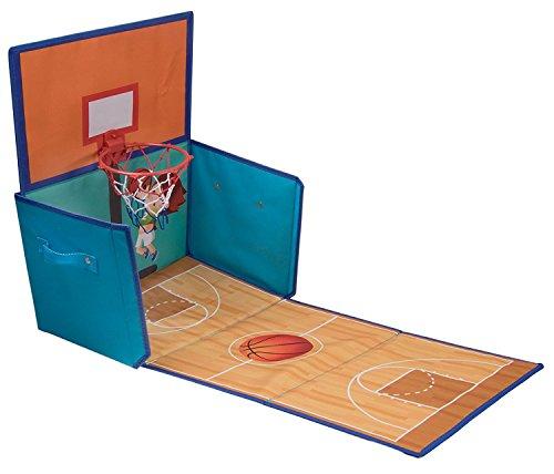 Clever Creations Organisateur Pliable/Panier de Basket 2-en-1 - pour Enfant - 39,4 x 25,4 x 24,8 cm