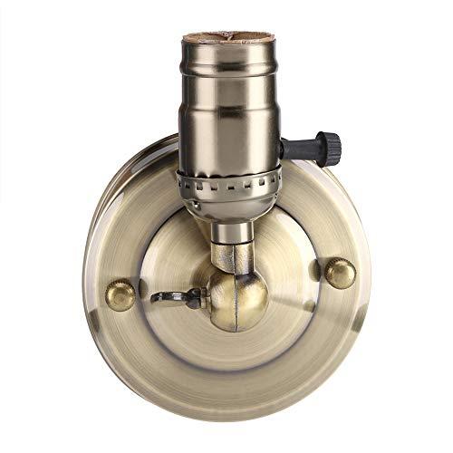 Yisentno Soporte para lámpara de Pared Soporte para lámpara de Interior Soporte para lámpara de Pared E27, Mini Aplique de Pared, Soporte para lámpara de luz Vintage, Soporte(Bronze)