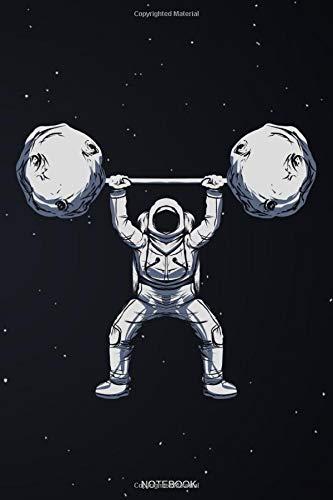 Notebook: Workout Notizbuch mit Astronaut Personal Trainer Geschenk Fitness für Bodybuilding Motivation Krafttraining und Cardio für Gym Sport Sprüche ... Notizen I Größe 6 x 9 I Liniert I 120 Seiten