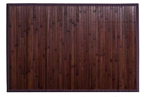 Clara Vidal Bertha Hogar - Alfombra Bambú Kanda, 170x240 cm, Nogal