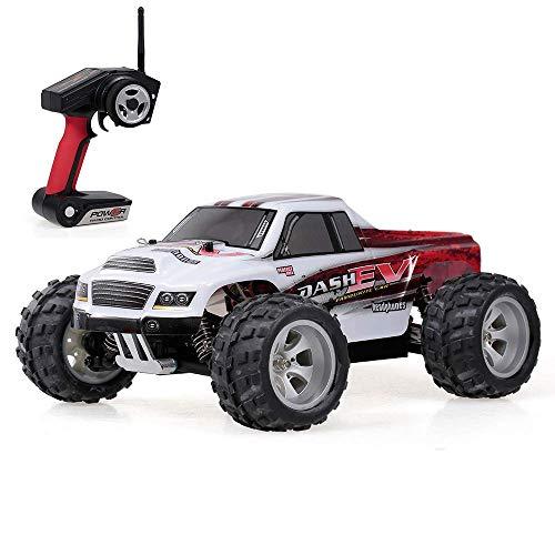 WGFGXQ 2.4G 1/18 RC Car 4WD 70KM / H Juguetes RC eléctricos de Alta Velocidad Totalmente proporcional Todo Terreno Control Remoto Coche Big Foot Truck RC Crawler RTR Car