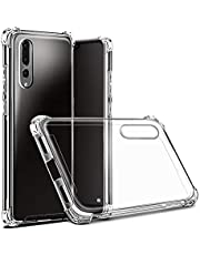 Hually Huawei P20 Pro Hoesje, Soft Silicone Bumper Phone Case Transparante TPU krasbestendig Cover Case voor Huawei P20 Pro (Crystal Clear)