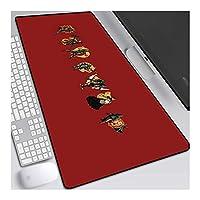 ゲーミングマウスパッド, 七つの大罪ゲームオフィスマウスパッド、大型900X400Mm、すべり止めラバーベースやシーム、Eマウスマット (Color : C)