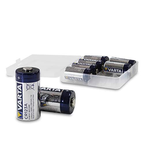 VARTA Varta CR123A - Pilas de Litio CR123A de 3 V (Anteriormente Varta Professional Lithium CR123A) en Caja de 8 Unidades, Color Blanco