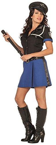 narrenkiste L3201230-54 - Vestido de polica para mujer (talla 54), color negro y azul